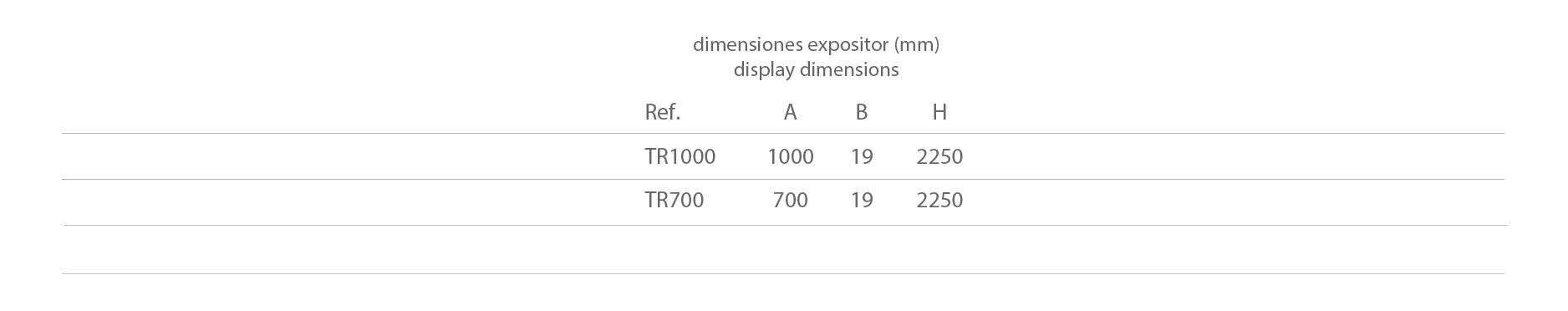 TRASERA RANURADA 1000/700