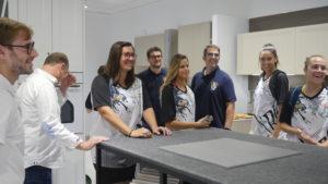 P1040305 300x169 - Visita del equipo Fustecma Nou Bàsquet Femení a nuestras instalaciones