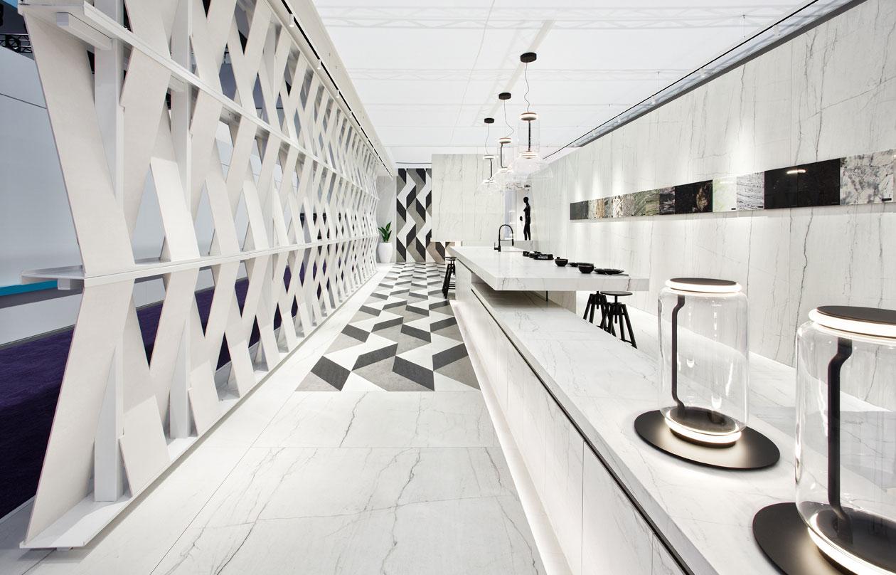 FUSTECMA colabora en la realización del Stand premiado de NEOLITH en la feria Kitchen & Bath Industry Show (KBIS)