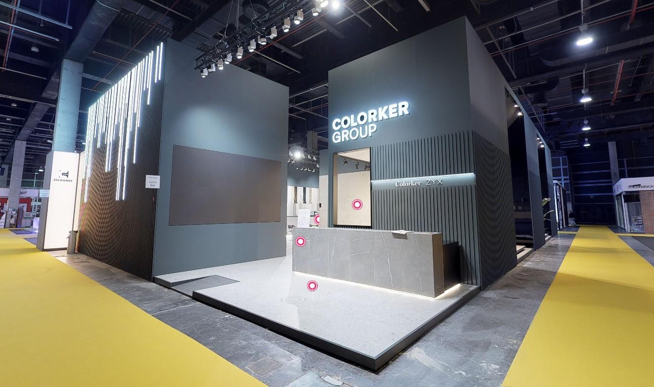 stand colorker - Fustecma – stand Colorker Cevisama 2020 360º